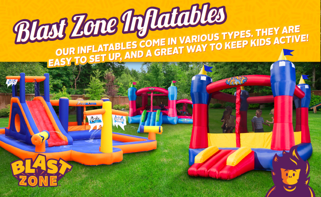 Blast Zone inflatables come in many shapes and sizes.
